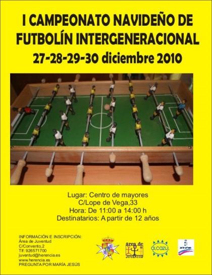 campeonato navidad futbolin intergeneracional