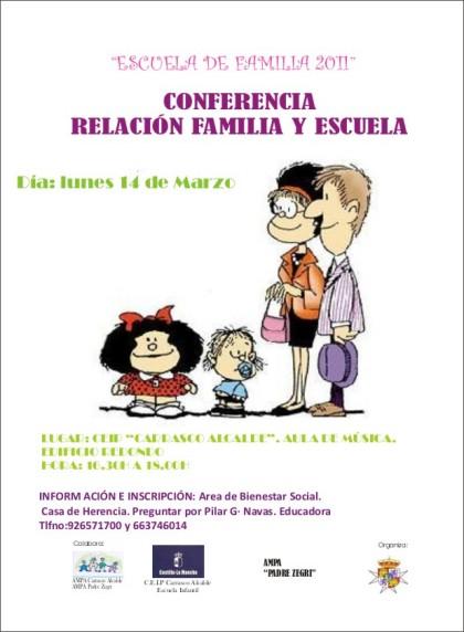 conferencia relacion escuela y familia