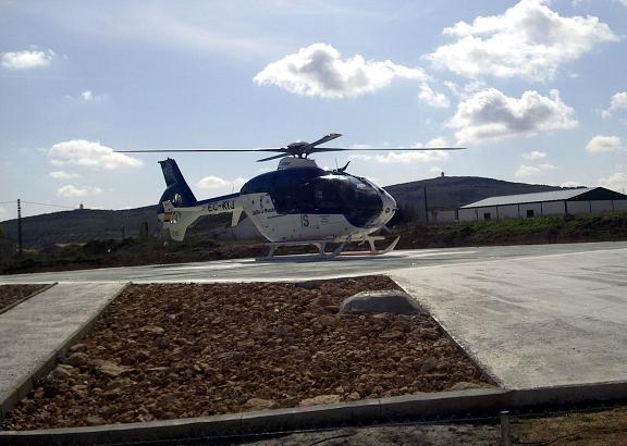 herencia helipuerto con helicptero