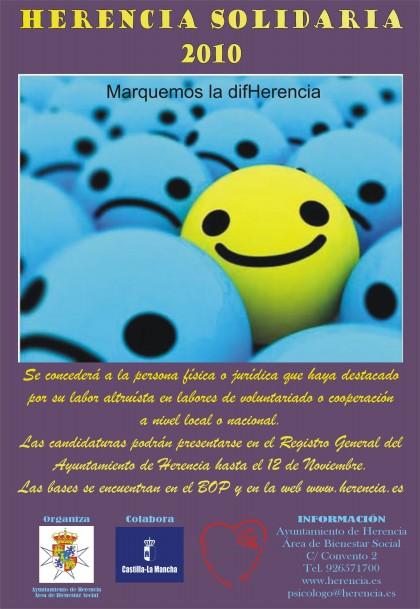 presentar galardon herencia solidaria 2010