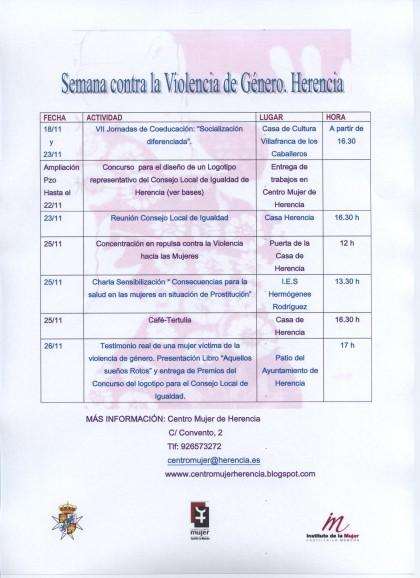 semana contra la violencia de genero