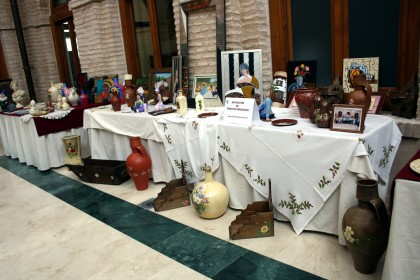 exposicion obras artisticas de los mayores de Herencia